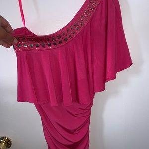 Arden B Hot Pink Dress Size M